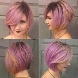 stylish colouredbob hairstyles for 16 cute easy short haircut ideas for round faces