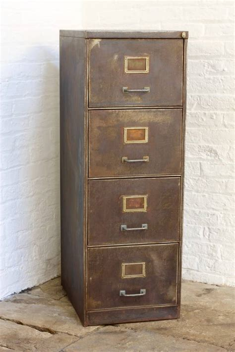 Retro Filing Cabinet Tannery Vintage Four Drawer Filing Cabinet By Grain Notonthehighstreet