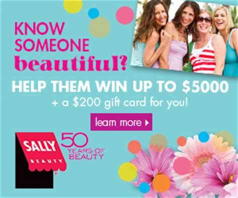 Sally S Gift Card - sally beauty gift card sweepstakes and coupon thrifty momma ramblings