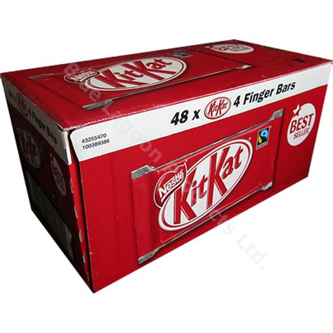 Kitkat 4 Finger Chocolate From Uk box of 48 50g nestle kit 4 finger bars chocolate