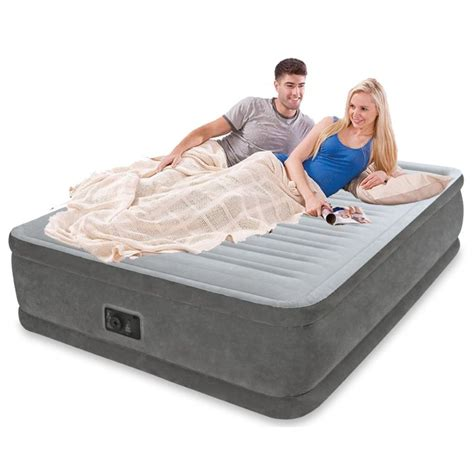 intex deluxe air bed w built in 46cm buy mattresses 158952
