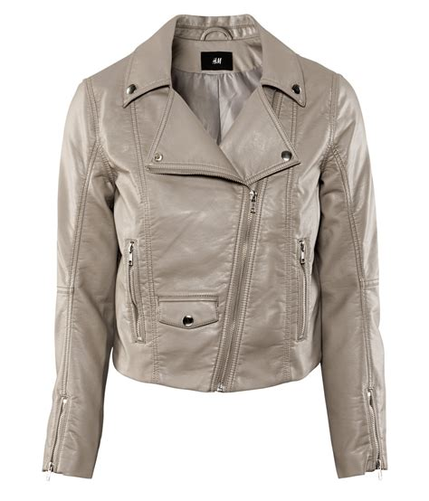 H Jaket h m jacket in beige taupe lyst