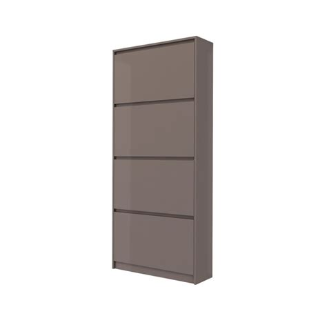 Shoe Cabinet With Drawer by 4 Drawer Shoe Cabinet In Mocha High Gloss 71007dsds