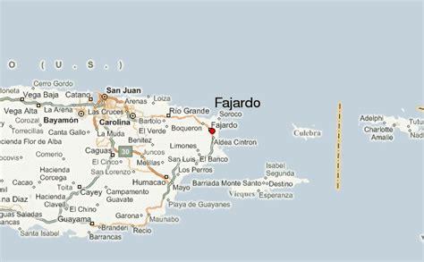 fajardo resort map map fajardo map