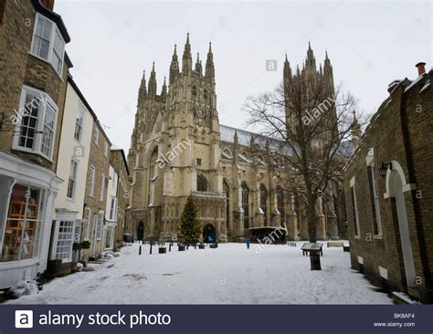 houses to buy in canterbury canterbury cathedral covered in snow in canterbury kent uk stock photo royalty free