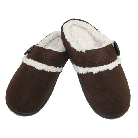slippers for new dearfoams s microsuede clog slipper with memory