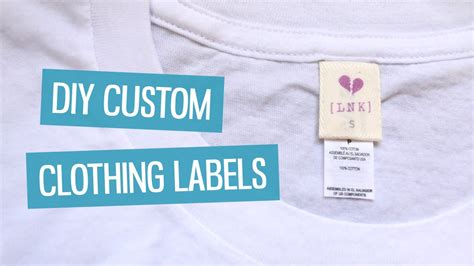Cloth Tags For Handmade Clothing - diy custom clothing labels charlimarietv