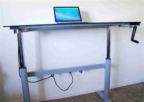 diy adjustable standing desk diy standing desk
