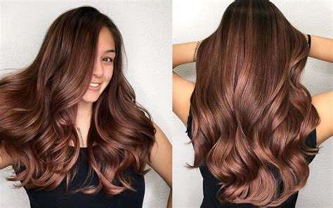 rose gold hair dye dark hair color how to dark rose gold american salon