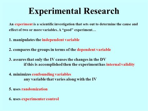 experimental research design experimental methods an introduction to the analysis and