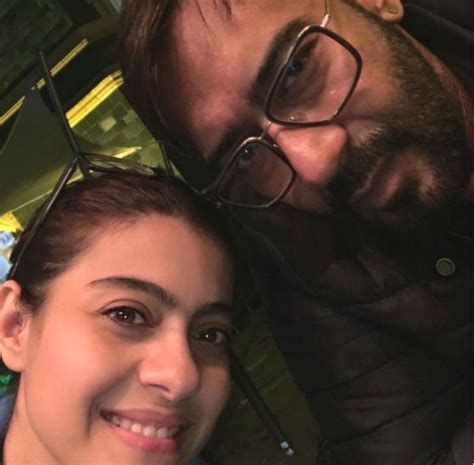 Kajol shares a cosy selfie with hubby Ajay Devgn on their