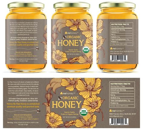 Honey Label Template Printable Label Templates Honey Jar Labels Template