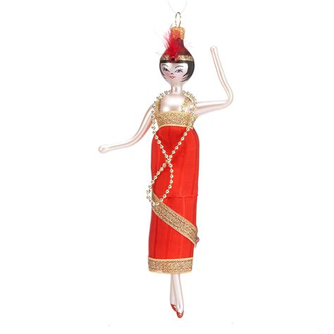 dress ornaments flapper in dress ornament gump s