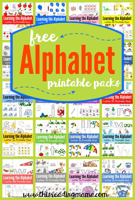 printable games for learning the alphabet free alphabet printable packs