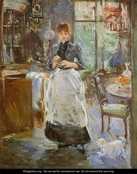Berthe Morisot In The Dining Room In The Dining Room 1886 Berthe Morisot Wikigallery Org The Largest Gallery In The World