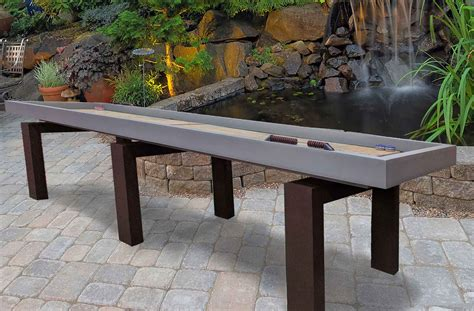 outdoor shuffleboard table for sale rock solid shuffleboard r r outdoors inc