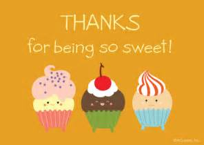 quot thanks for being sweet reply card quot thank you postcard