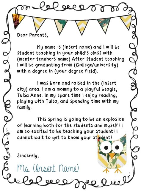 Introduction Letter Home To Parents 25 Best Ideas About Introduction Letter On Welcome Letters Parent