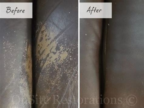 How To Repair Scratched Leather Sofa Before After Worn Leather Repair Leather Furniture Repair For Sofa Leather Furniture
