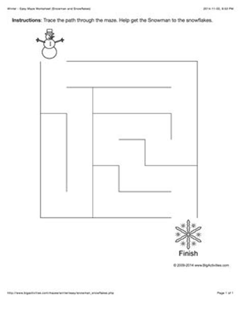 winter maze worksheets 17 best images about zima on snowflakes activities and maze