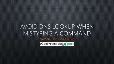 Dns Lookup Command Avoid Dns Lookup When Mistyping A Command