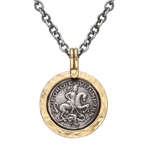 st pendant silver gold st george pendant necklace betteridge