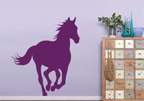 Horse Wall Stickers Uk horse trotting wild life wall stickers adhesive wall sticker