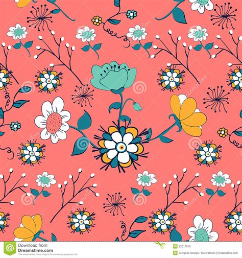 flower pattern stock illustrations vintage flowers pattern stock vector illustration of