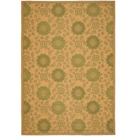 Safavieh Courtyard Natural Green 4 Ft X 5 Ft 7 In 4 X 5 Outdoor Rug