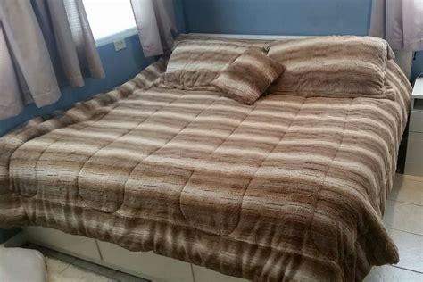 Mink Comforter King by Rustic Winter 4 Faux Fur Comforter Set Reversible To