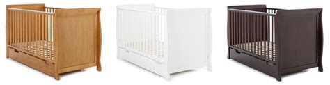 Cot Mattress Obaby Sleigh Cot Bed And Drawer White Co