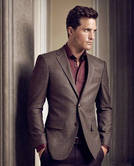 Brilante Mans Black Brown wine shirt and brown blazer all should wear like this brown blazer and