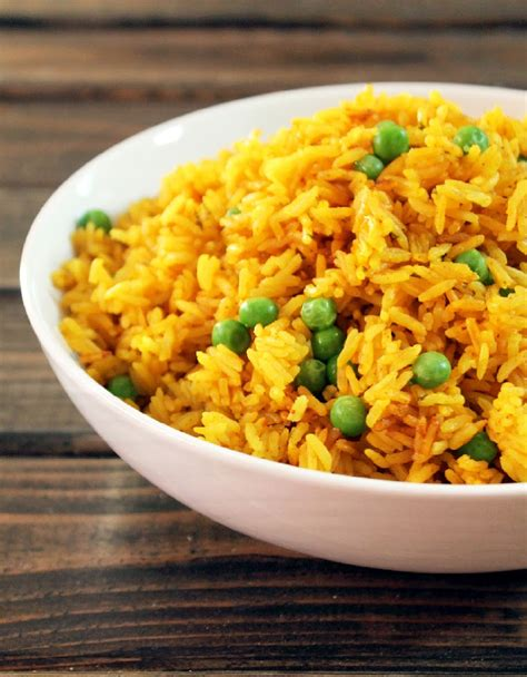 yellow rice with sweet peas not quite a vegan