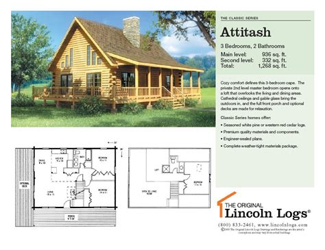 log home floorplan attitash the original lincoln logs