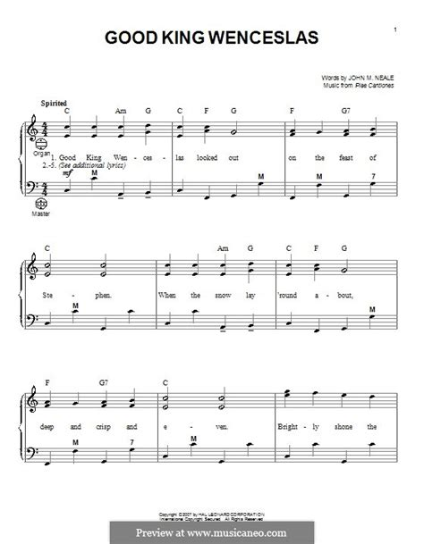 good king wenceslas by folklore sheet music on musicaneo good king wenceslas by folklore sheet music on musicaneo