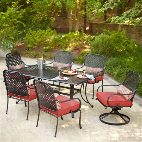 hton bay fall river 7 outdoor dining set with