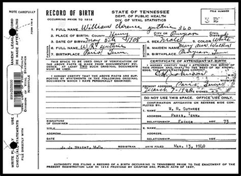 Birth Records Knoxville Tn Guthrie Genealogy B Wm Rufus