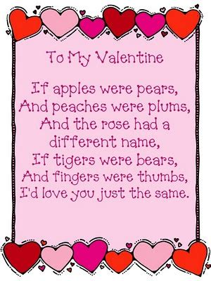 valentines day poems for kindergarten to my the o jays words and poem