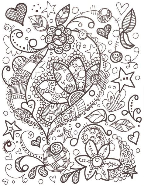 flower doodle coloring pages girly doodle doodles flower search and