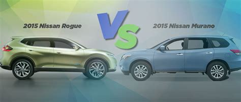 nissan rogue or murano nissan rogue compared to murano