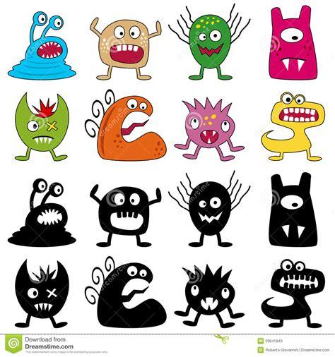 imagenes monstruos halloween monstruos divertidos de halloween fijados fotos de archivo
