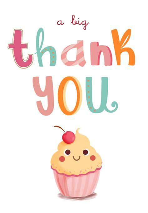 A Big Thank You   Birthday Thank You Card (Free