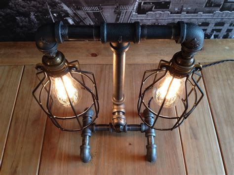 steampunk industrial style table lamp adorable home