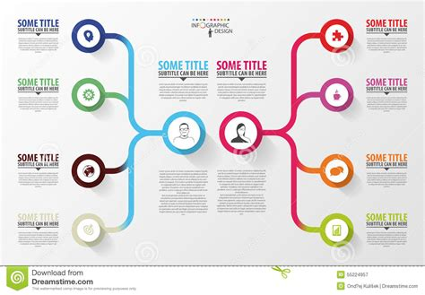 Modern Infographics Business Plan Design Template Vector Stock Vector Illustration Of Report Modern Business Plan Template