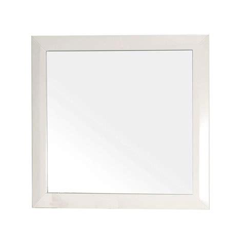 bellaterra home 203054 mirror frame bathroom mirror bellaterra home telford 32 in l x 32 in w solid wood