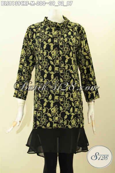 Baju Korpri Wanita Furing Size model baju batik wanita bahan blus batik krah shanghai istimewa daleman furing katun