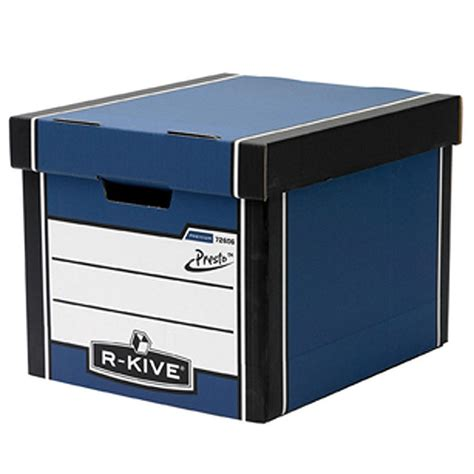 bankers box bankers box cardboard storage box blue 303 mm x 342 mm