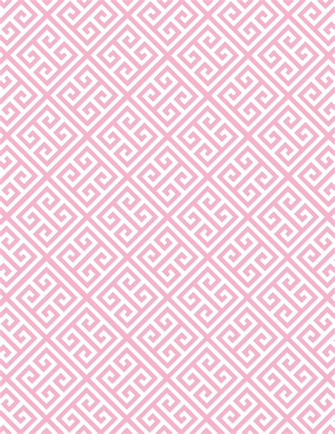 pink pattern montreal free printable digital paper greek key light pink page 001