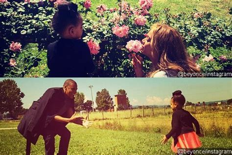 blue family in the garden beyonce shares sweet family time photos with blue and