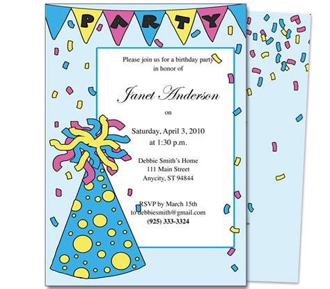 create birthday card template birthday invitations templates theruntime